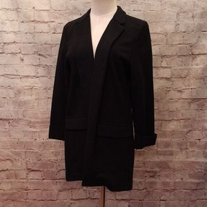 Simply Styled Sears Open Front Ponte Blazer Cuffed